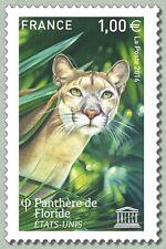 France 2016 UNESCO Florida panther Panthère de Floride wild animals 1v mnh **