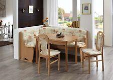 Eckbankgruppe Tessin 4 teilig mit Vierfußtisch Buche Sandfarbig Esstisch Stühle
