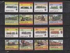 St. Lucia 712-27 wunderschöne Lokomotiven kompletter Satz postfrisch