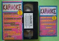 VHS FILM Ita Musicale KARAOKE 1 Lucio Dalla Gino Paaoli Celentano no dvd (V149)