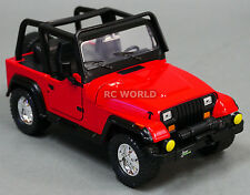 1/24 DieCast 1990's  JEEP WRANGLER RUBICON Model TRUCK Red
