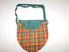 VINTAGE  GS GIRL SCOUTS CLOTH PLAID BAG