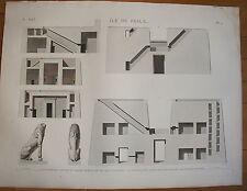 DESCRIPTION DE L'EGYPTE, 1809, ILE DE PHILAE PLANCHE 9