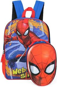 Marvel Spider-Man Full Size Backpack with Detachable Lunch Box