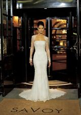 Justin Alexander 8102 Ivory Wedding Dress Lace Crystal Bead Bolero Jacket Size10