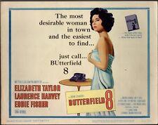 ELIZABETH TAYLOR BUTTERFIELD 8  1960 11X14  LOBBY CARD SET OF 8 1853