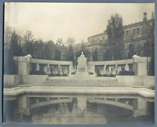 Autriche, Wien, Kaiserin Elisabeth Denkmal im Volksgarten Vintage print.  Tira