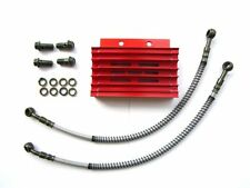 PIT BIKE OIL COOLER RED LIFAN HOSES LINES 140CC 125CC 150cc