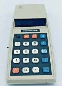 Vintage Commodore Solid State Electronic Calculator Mo. #776M Box & Instructions