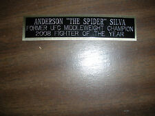 ANDERSON SILVA (UFC) NAMEPLATE FOR SIGNED TRUNKS DISPLAY/PHOTO/PLAQUE