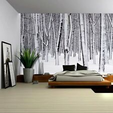 Mural of a Forest Covered in a Blanket of Snow - Wall Mural - 66x96 inches