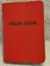 Midget Series German-Engllish Dictionary, Burgess & Bowes Ltd