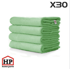 30 X Professional Washable Microfibre Cloths Extra-Large Super Thickness Green
