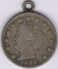 More details for 1883 u.s.a.nickel 5 cents modified for chain | pennies2pounds