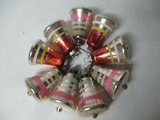 Vintage Glass Xmas Ornament - 9 Shiny Brite Bells