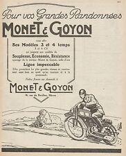 Y9694 Motocyclettes MONET & GOYON - Pubblicità d'epoca - 1926 Old advertising