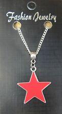 "18"" or 24 Necklace & Red Star Pendant Communism Communist Pentagram Soviet Charm"