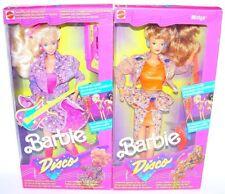 "Mattel USA 12"" BARBIE & MIDGE 2x DISCO BAND MEMBER Doll Figure Set MISB`89 RARE!"
