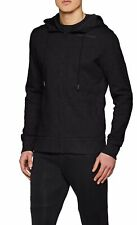 Under Armour Mens Sweater Black Size XL Full-Zip Hooded Ribbed-Hem $80 650
