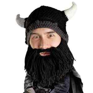 Beard Head Barbarian Looter - Black Beard, Funny Headwear, One Size Fits Most