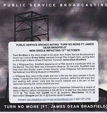 PUBLIC SERVICE BROADCASTING TURN NO MORE RARE PROMO CD [MANIC STREET PREACHERS]