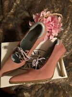 STEVE MADDEN Women's Leather Hollywud Pumps Women's Size 9 Pink Pointed,laces