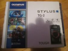 Olympus Tough TG-2 iHS 12.0MP Digital Camera - Black Waterproof Used