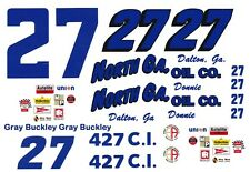 #27 Donnie Allison North Ga. Oil Chevy 1/32nd Scale Slot Car Waterslide Decals