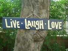 LIVE LAUGH LOVE COUNTRY WOOD RUSTIC PRIMITIVE SHABBY CHIC HOUSE SIGN PLAQUE