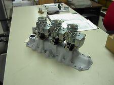 NOS Offy Offenhauser 32-48 Ford Mercury flathead stromberg 97 tri power intake