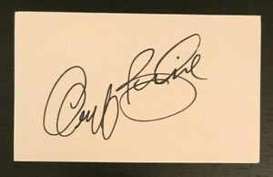 GEOFF BODINE NASCAR Racing Race Car Driver Autographed Signed 3x5 Index Card 1