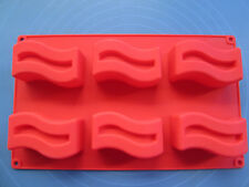 1pcs The 6-Holes Wave Silicone Cake/Pudding/Jelly/Ice/Candy Baking Pan DIY mold