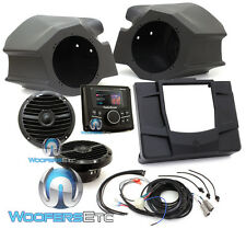 ROCKFORD FOSGATE RZR-STAGE2 STEREO & FRONT SPEAKERS KIT FOR SELECT POLARIS NEW