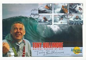 2008  Autographed Editions Signed Tony Bullimore Rescue at Sea stamps FDC