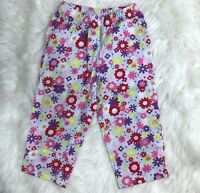 Hanna Andersson Girls Size US 5 110 cm Floral Pink Knit Pull On Pants