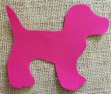 Fabric Iron on Pink Dog- Bunting Making - Personalisation
