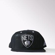 NEW RETRO ADIDAS BROOKLYN NETS TRUCKER CAP HAT BLACK TRUCKER MEDIUM 56CM 22.1/4