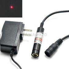Focusable 650nm 50mW Red Dot Laser Diode Module Locator 12x55mm w/5V Adapter