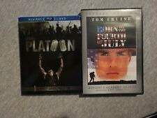 Platoon w/ slipcover (Blu-ray/Dvd) & Born on The Fourth July (Dvd)