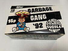 More details for 1991 uk / ireland garbage pail kids garbage gang '92 empty box (1-356-0-6)