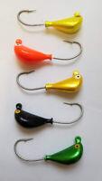 25 Weedless Jig Heads 1//8 oz V Weed Brush Guard Bass Swim Bait Eagle Claw
