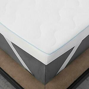 Memory Foam Mattress Topper Double Bed - Breathable 2 Layer Bed Mattress