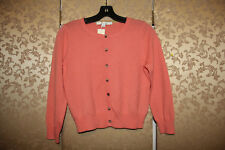 Boden NWT Peach Orange 100% Cashmere Cropped Spring Cardigan Sweater 6