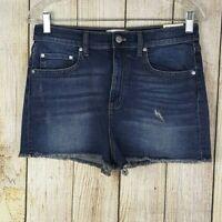 Victorias Secret PINK Womens Jean Shorts Size 10 High-Waisted Cut Off