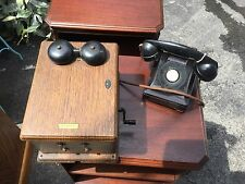 Antique  Western Electric  Telephone and Ringer Box