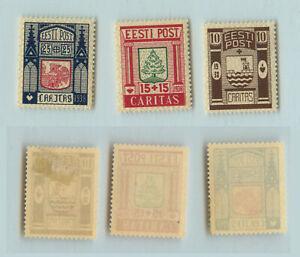 Estonia 🇪🇪 1937 SC B36-B38 mint. rtb2919