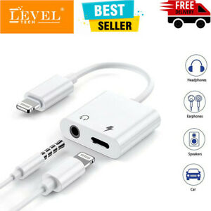 2in1 For iPhone to 3.5mm Headphones Jack Aux Audio Earphone Charging Adapter