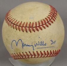 Maury Wills Dodgers Autographed Signed 2003 Arizona League WS Baseball ED027