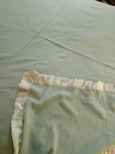 Faribault Woolen Mill Melbourne 100% Merino Wool Blanket Green King 108 X 90 Usa