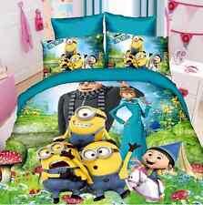 New Minions Kids Bedding Set 2/3 Piece Twin /Single Bed Girls/Boys Cotton Linen